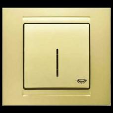 Кнопка контроля освещения с подсветкой Gunsan Moderna золото