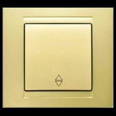 Выключатель проходной одноклавишный Gunsan Moderna золото
