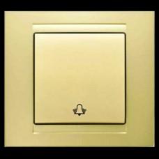 Кнопка звонка одинарная Gunsan Moderna золото