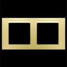 Рамка двойная Gunsan Moderna золото