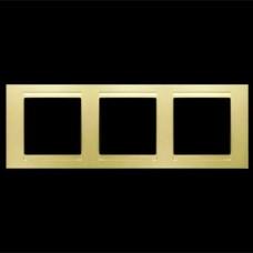 Рамка тройная Gunsan Moderna золото