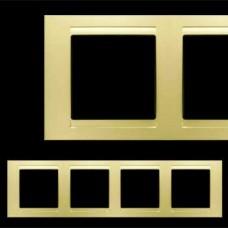Рамка четверная Gunsan Moderna золото