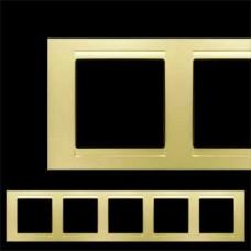 Рамка пятерная Gunsan Moderna золото