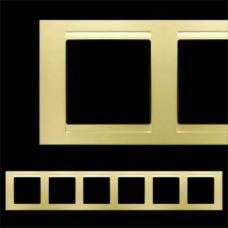 Рамка шестерная Gunsan Moderna золото
