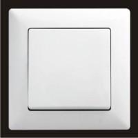 Выключатель одноклавишный Gunsan Visage белый VS 28 11 101