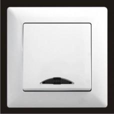 Выключатель одноклавишный с подсветкой Gunsan Visage белый VS 28 11 102