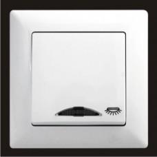 Кнопка контроля освещения с подсветкой Gunsan Visage белый VS 28 11 106