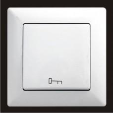 Кнопка управления дверным замком Gunsan Visage белый VS 28 11 110