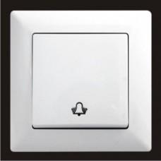 Кнопка звонка одинарная Gunsan Visage белый VS 28 11 111