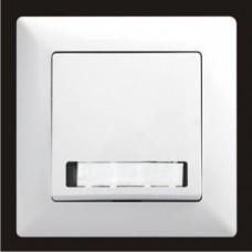 Кнопка звонка одинарная с подсветкой и местом под этикетку Gunsan Visage белый VS 28 11 112