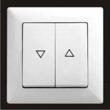 Кнопка управления жалюзи двойная Gunsan Visage белый VS 28 11 125