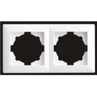 Рамка двойная Gunsan Visage белый VS 28 11 141