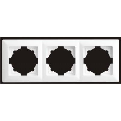 Рамка тройная Gunsan Visage белый VS 28 11 143