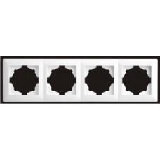 Рамка четверная Gunsan Visage белый VS 28 11 145