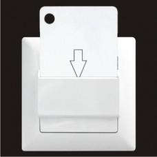 Выключатель энергосберегающий (эко) для отелей Gunsan Visage белый VS 28 11 157