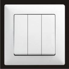 Выключатель тройной Gunsan Visage белый VS 28 11 160