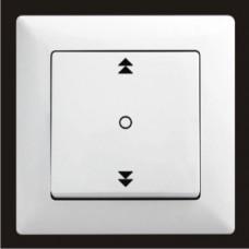 Кнопка управления жалюзи одинарная Gunsan Visage белый VS 28 11 179
