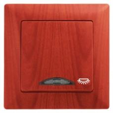 Кнопка контроля освещения с подсветкой Gunsan Visage черешня