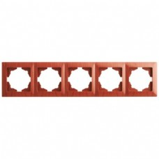 Рамка пятерная Gunsan Visage черешня
