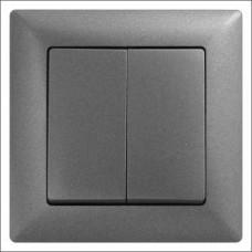 Выключатель двухклавишный Gunsan Visage черный
