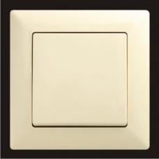 Выключатель одноклавишный Gunsan Visage кремовый VS 28 12 101