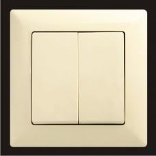 Выключатель двухклавишный Gunsan Visage кремовый VS 28 12 103