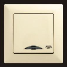 Кнопка контроля освещения с подсветкой Gunsan Visage кремовый VS 28 12 106