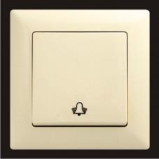 Кнопка звонка одинарная Gunsan Visage кремовый VS 28 12 111