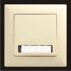 Кнопка звонка одинарная с подсветкой и местом под этикетку Gunsan Visage кремовый VS 28 12 112