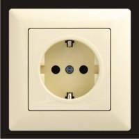 Розетка с заземлением одинарная Gunsan Visage кремовый VS 28 12 115