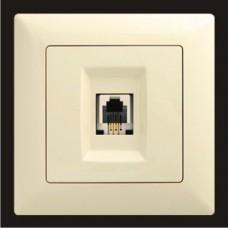 Розетка телефонная одинарная Gunsan Visage кремовый VS 28 12 120
