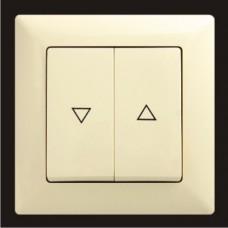 Кнопка управления жалюзи двойная Gunsan Visage кремовый VS 28 12 125