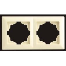 Рамка двойная Gunsan Visage кремовый VS 28 12 141