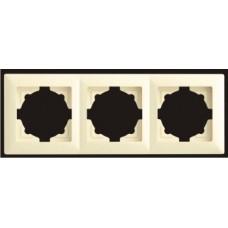 Рамка тройная Gunsan Visage кремовый VS 28 12 143