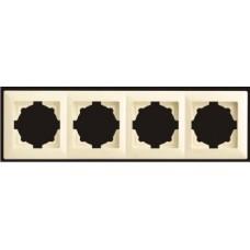 Рамка четверная Gunsan Visage кремовый VS 28 12 145
