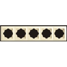 Рамка пятерная Gunsan Visage кремовый VS 28 12 146