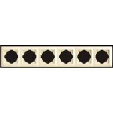 Рамка шестерная Gunsan Visage кремовый VS 28 12 147