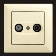 Спутниковая розетка и ТВ Gunsan Visage кремовый VS 28 12 156