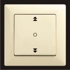 Кнопка управления жалюзи одинарная Gunsan Visage кремовый VS 28 12 179