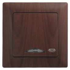 Кнопка контроля освещения с подсветкой Gunsan Visage орех