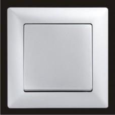 Выключатель одноклавишный Gunsan Visage серебро VS 28 15 101