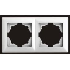 Рамка двойная Gunsan Visage серебро VS 28 15 141