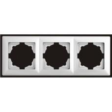 Рамка тройная Gunsan Visage серебро VS 28 15 143