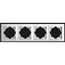Рамка четверная Gunsan Visage серебро VS 28 15 145