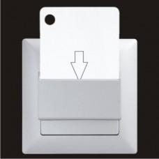 Выключатель энергосберегающий Gunsan Visage серебро VS 28 15 157