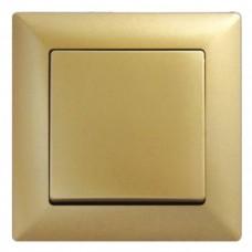 Выключатель одноклавишный Gunsan Visage золото