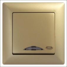 Кнопка контроля освещения с подсветкой Gunsan Visage золото