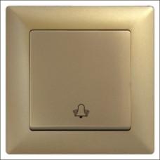 Кнопка звонка одинарная Gunsan Visage золото
