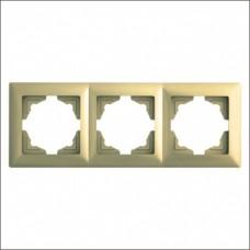 Рамка тройная Gunsan Visage золото