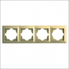 Рамка четверная Gunsan Visage золото